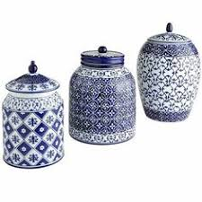 kitchen canisters blue blue delft jar set with lids 655 made in excellent