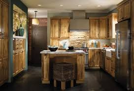 Brown Tile Backsplash by Rustic Kitchen Designs Brown Wall Paint Color The Eclectic
