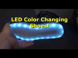 light up shoes that change colors color changing flashing led lights women s high top shoes usb