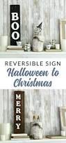 diy reversible reclaimed wood sign perfect for seasonal decor