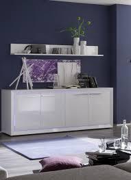 Buffet bahut design 4 portes blanc laqué Cécilia Bahut buffet