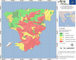 Maps For Land Suitability Maps For The Distribution Of Pistachio Waste