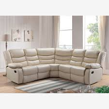 leather corner recliner sofa reclining corner sofa in ivory bonded leather