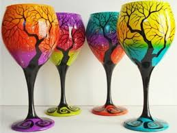 wine glass painting bisque it a studio