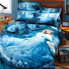 Cheap Black Duvet Covers High Quality 2015 New 100 Cotton Cinderella 3d Bedding Supplies