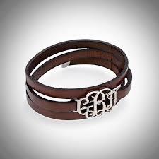 buckle leather wrap bracelet images Leather wrap bracelet with silver or gold monogram jpg