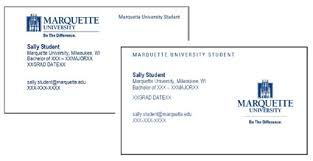 student business card business cards career services center marquette