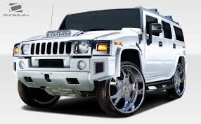 luxury hummer 03 09 hummer h2 br n duraflex front bumper add on body kit