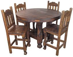 Rustic Bistro Table And Chairs Rustic Wood Counter Height Bistro Table Set With 4 Stools