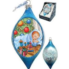 baby blue ornaments wayfair