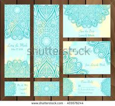 doodle indian set watercolor background mandalas doodle stock vector