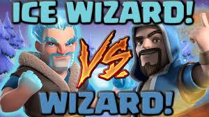 ice wizard vs wizard clash of clans battle new coc troop