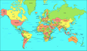 map of th world labeled world map poster within countries besttabletfor me