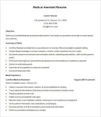 Summary For Medical Assistant Resume Resume Template For Medical Assistant Medical Assistant Resume
