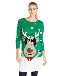 womens tunic sweaters allison s goofy reindeer sweater