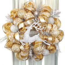 holiday deco mesh wreaths wreaths gold and holidays