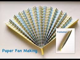 how to make a fan how to make paper folding fan that can open and i used some