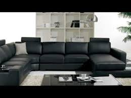 t35 black leather sectional sofa with light youtube