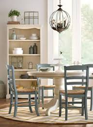 paula deen home paula u0027s round pedestal dining table in linen for