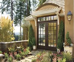 Jeld Wen Aluminum Clad Wood Windows Decor Pretty Brown Jeld Wen Exterior Doors With Handle Matched With