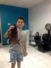 boy donates 20 inches of hair from first ever haircut south of