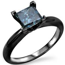 black gold sapphire engagement rings jewels princess cut blue blue solitaire ring