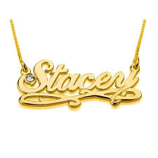 plated gold name necklace thickness birthstone name necklace calligraphy style 24k