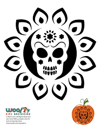 100 day of the dead pumpkin carving patterns 25 best no