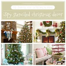 better homes and gardens wall decor 12 days of stenciling i spy stenciled christmas decor stencil