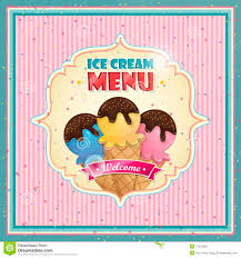 Restaurant Menu Covers Ice Cream Menu Cover Stock Photo Image 37079860