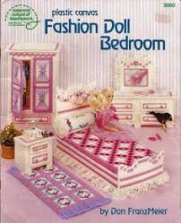 2 fashion doll plastic canvas furniture pattern books barbie