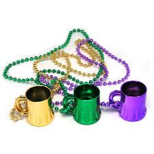 mardi gras party favors mardi gras mug bead necklaces