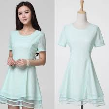 light green dress with sleeves 2015 real photos short lace dresses short sleeve o neck mini pink