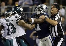 nfl says hit by dallas cowboys dwayne harris on eagles nolan