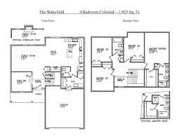 colonial floor plans 4 bedroom colonial floor plan home plans ideas