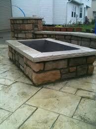 Outdoor Cinder Block Fireplace Plans - square outdoor fire pit ideas u2013 jackiewalker me