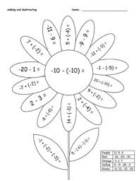 addition worksheets addition of integers free math worksheets