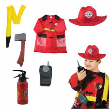 Fireman Costume Firefighter 6pcs Set Costume 3 8yrs