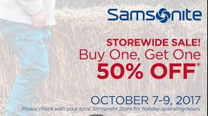 samsonite outlet thanksgiving storewide bogo event