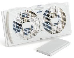 Box Fans Walmart by Amazon Com Holmes Dual Blade Twin Window Fan White Home U0026 Kitchen