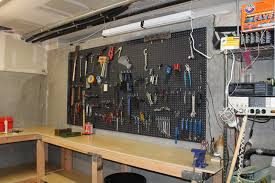 organizing the garage with diy pegboard storage wall at ideas for