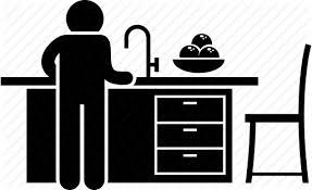 kitchen icon cooking island kitchen kitchen island man person table icon