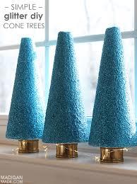 blue glitter diy topiary trees rosyscription