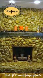 fireplace and mantel makeover redo it yourself inspirations
