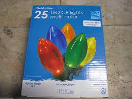 energy star led c9 lights holiday time 25 super bright multi color led c9 christmas lights ebay