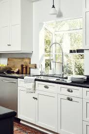 pro kitchens design appliances pro style pull down kitchen faucet with black quartz