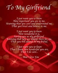 personalised to my girlfriend poem valentines day birthday