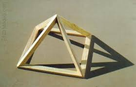 geometric wood sculpture wood frame pyramid this is a pretty simple all wood frame flickr