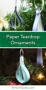 craft cottage paper teardrop ornaments
