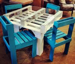 Teal Dining Table Kitchen Design Inspiring Cool Original Reclaimed Pallet Dining